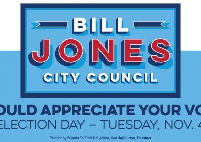 Bill Jones Print Ad