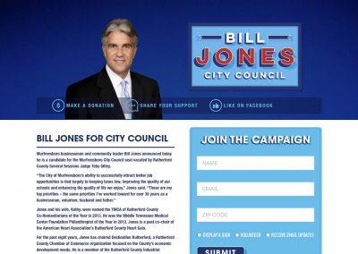 Bill Jones City Council Nav Political Website