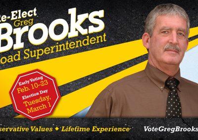 Greg Brooks Direct Mailer