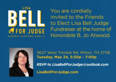 Lisa Bell for Judge - Invitation