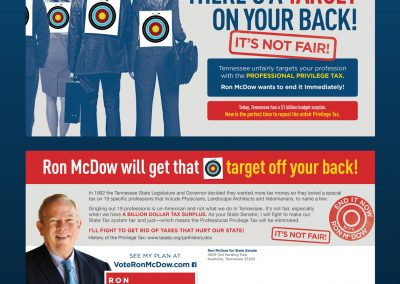 Ron McDow State Senate - Direct Mail Front and Back