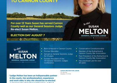 Susan Melton Direct Mail Front and Back