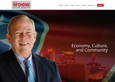 Ron McDow State Senate Nav Political Website