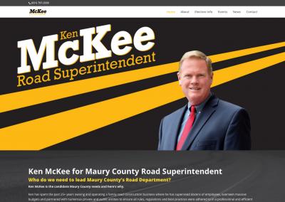 Ken McKee Road Superintendent Nav Political Website