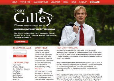 Toby Gilley General Sessions Judge Nav Political Website