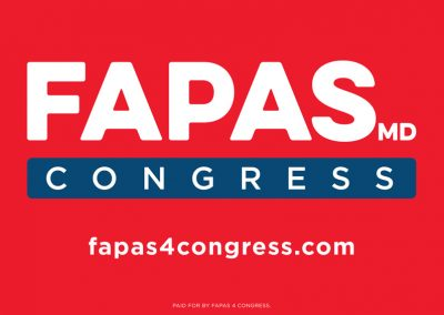 Fapas 4 Congress - Yard Sign