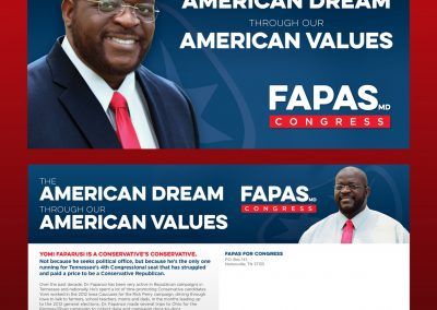 Fapas for Congress Direct Mail Front and Back