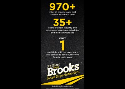 Greg Brooks Print Ad Front