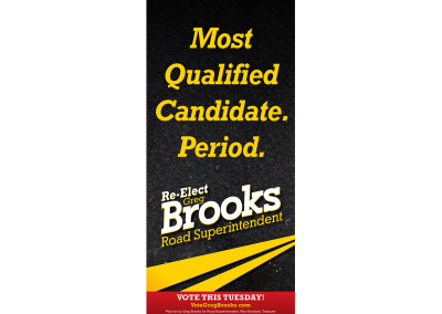 Greg Brooks Print Ad Back
