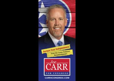 Carr 4 Congress - Palm Card - Front