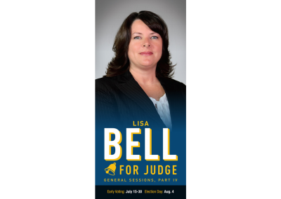 Lisa Bell for Judge - Palm Card - Front